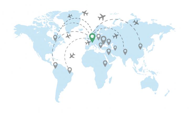 Mapa - Wohin möchten Sie fliegen?
